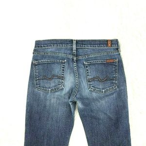 7 For All Mankind Flare Jeans Sz 28 X 32 In N12